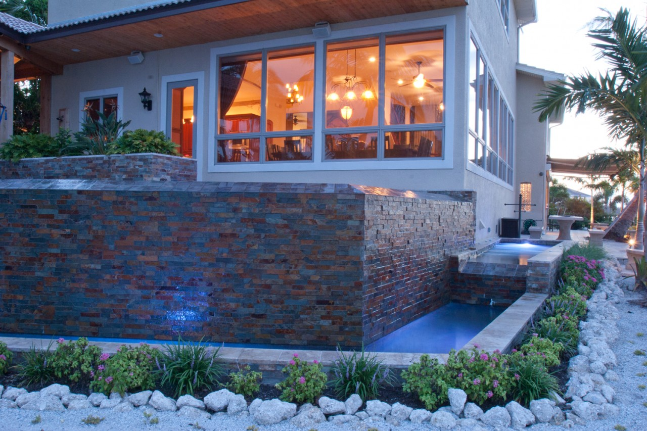 Lucas lagoon infinity edge modern zen pool for Zen pool design