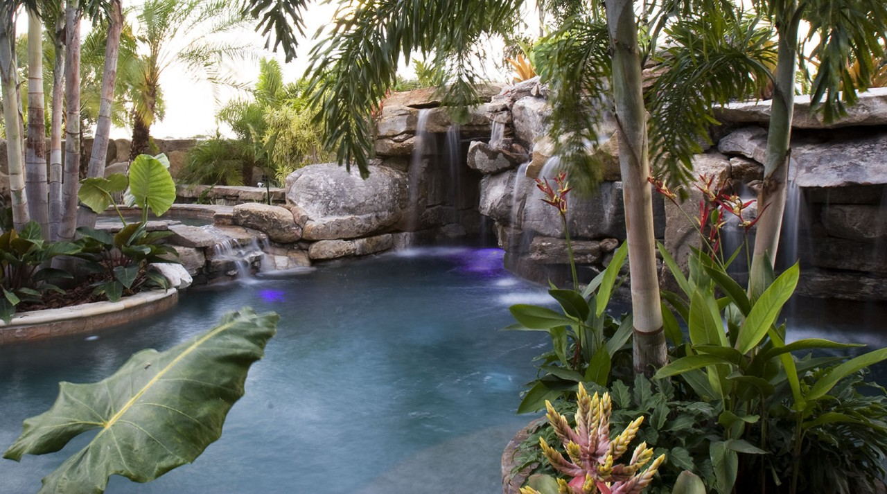 New Natural Lagoon Pool With Sun Deck Lucas Lagoons