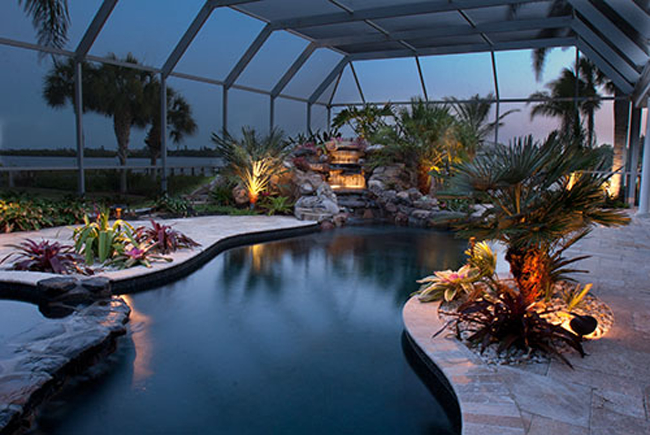 Extreme swimming pool remodel osprey florida lucas lagoons for Extreme pool show