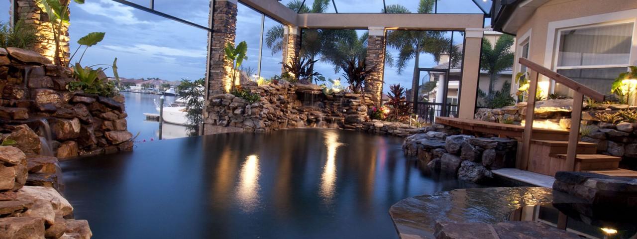 Infinity Edge Lagoon Pool Remodel