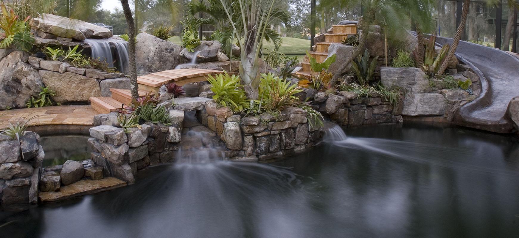 Modern Pool Grotto