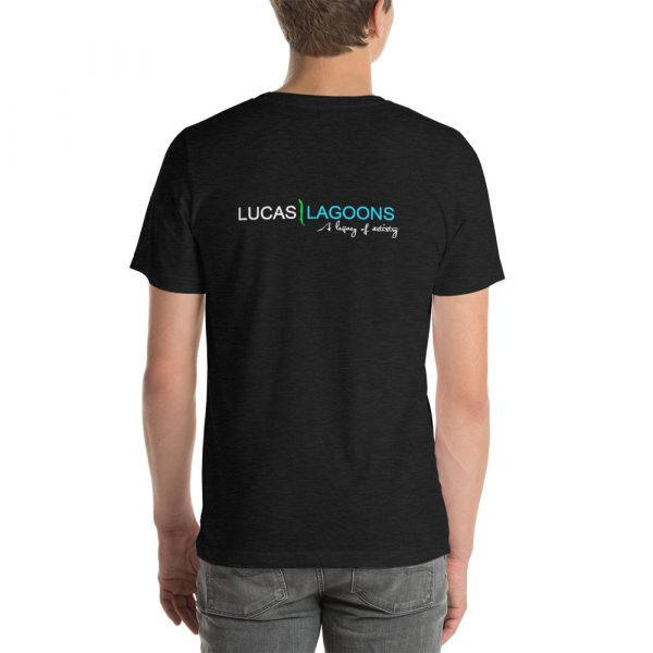 The classic Lucas Lagoons Crew Tee - Dark Gray Heather