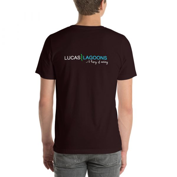 The classic Lucas Lagoons Crew Tee - Oxblood Black
