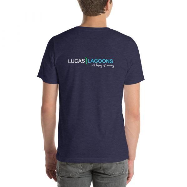 The classic Lucas Lagoons Crew Tee - Heather Midnight Blue