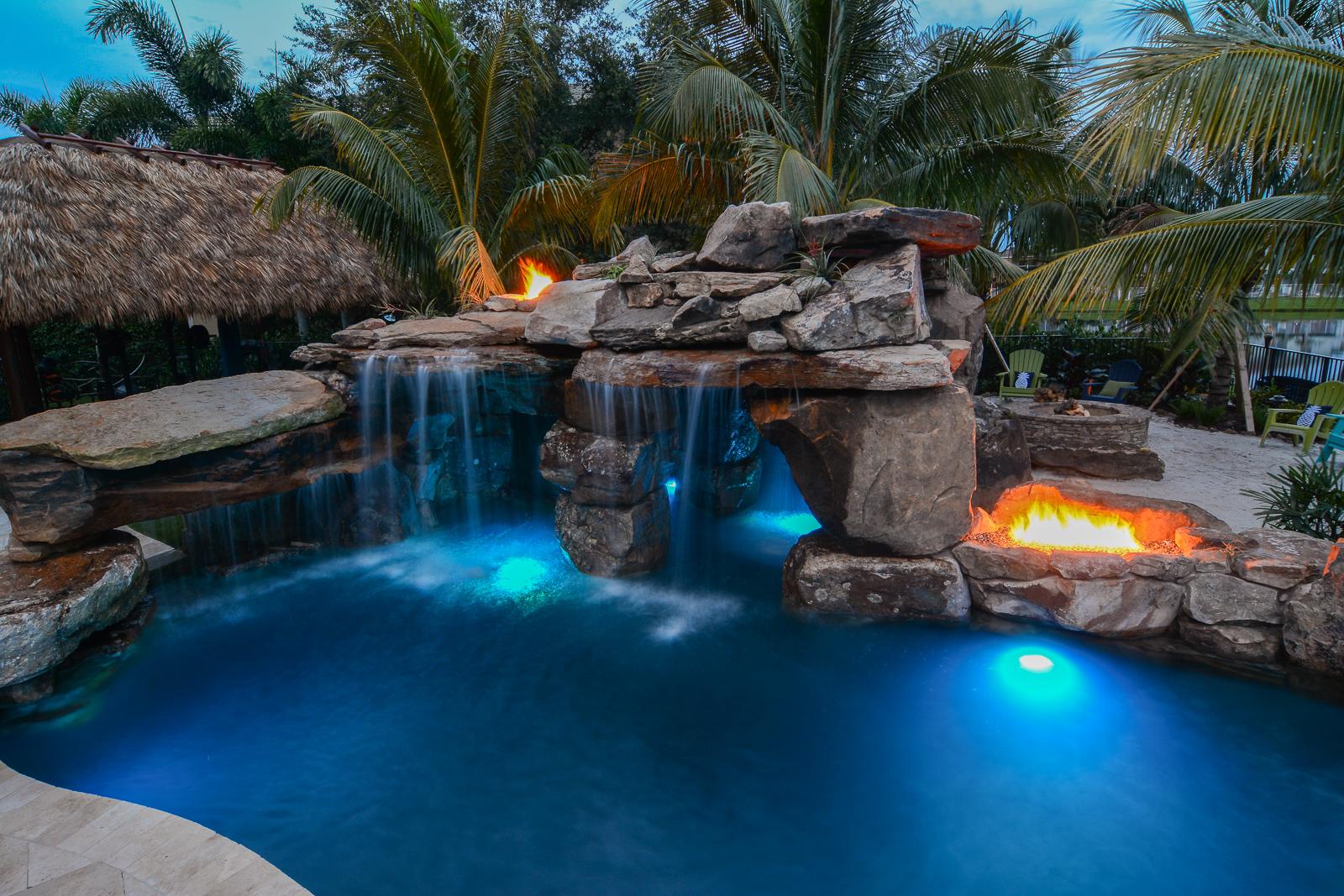 Fire Features Add On Gallery | Lucas Lagoons | Custom Pools on Custom Backyards id=24993