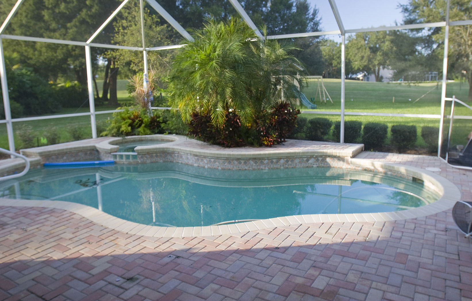 Lagoon Pool Remodel to Tropical Resort with Slide, Grotto ...