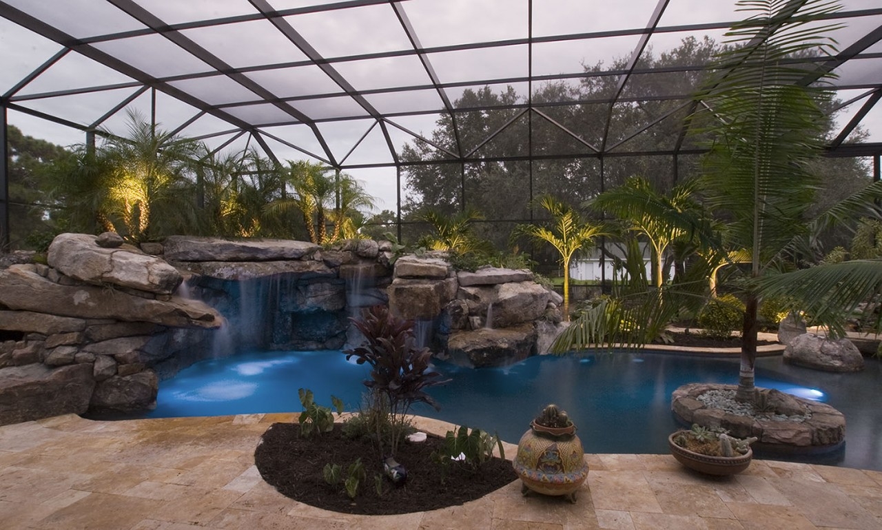 Lucas Lagoon Natural Lagoon Pool With Spa Amp Outdoor Kitchen