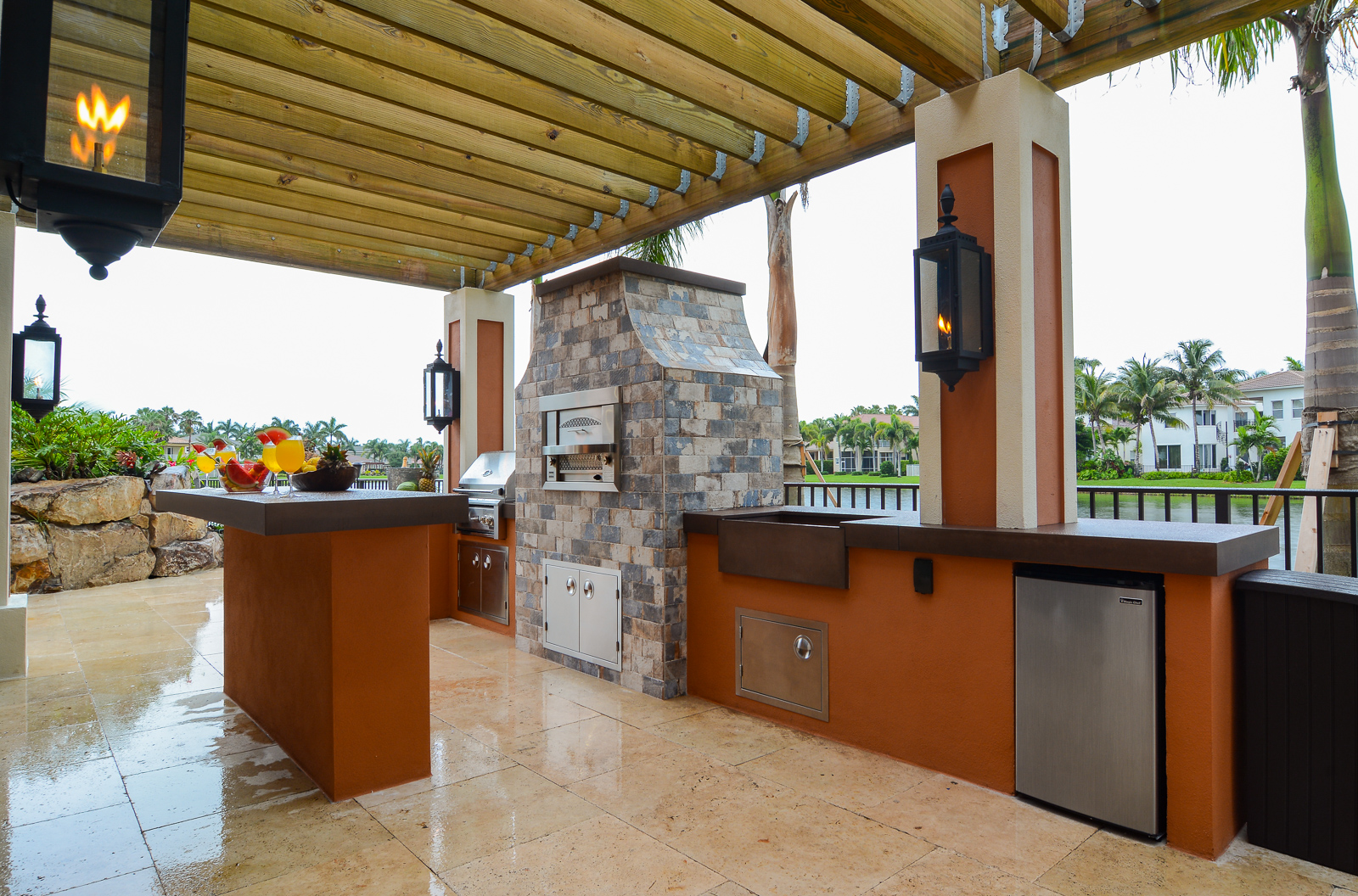 Outdoor Kitchens   Lucas Lagoons on Outdoor Kitchen By Pool id=30519