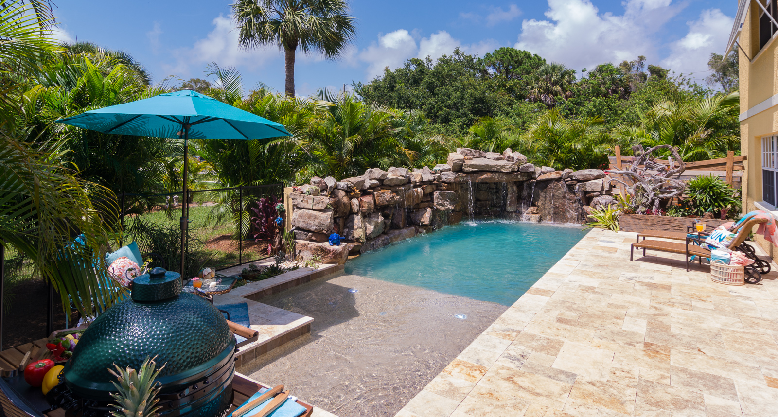 Insane pools tv episode small yard big dreams for Custom swimming pool designs