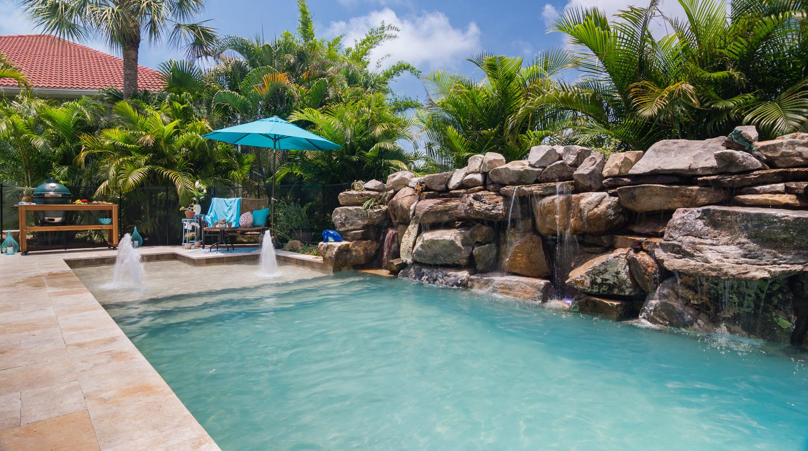 Insane pools tv episode small yard big dreams for Custom inground swimming pools