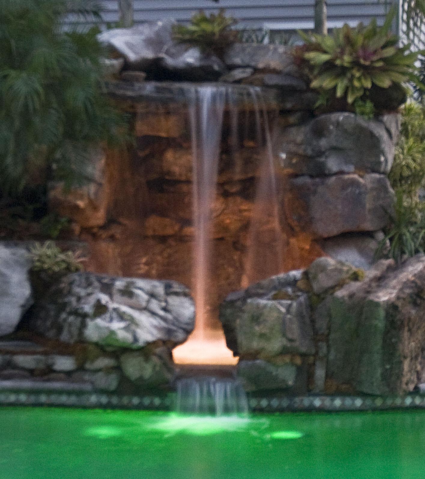 Tall Grotto Waterfall Lagoon Pool Remodel