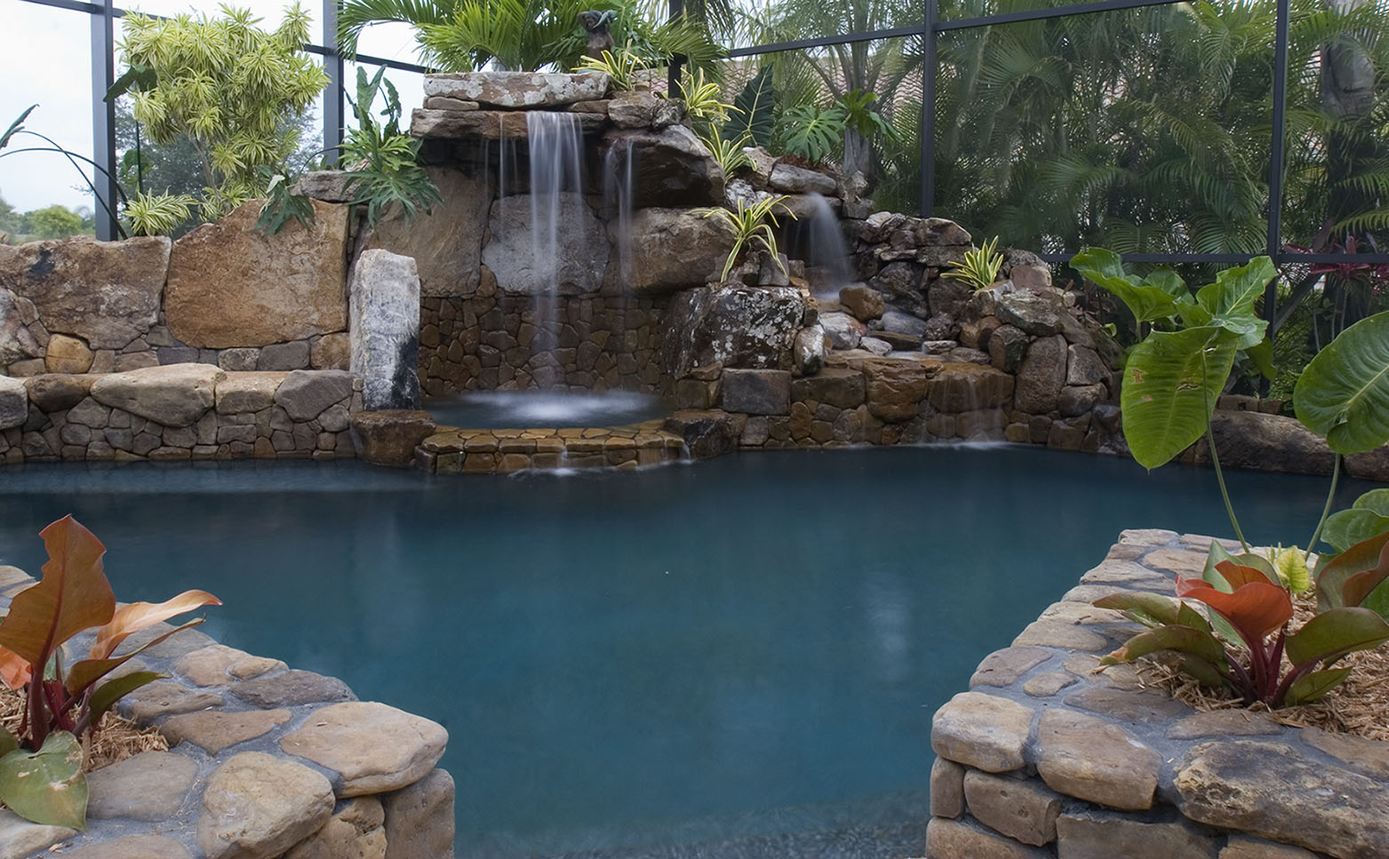 Lagoon Waterfall Architectural Pool Remodel