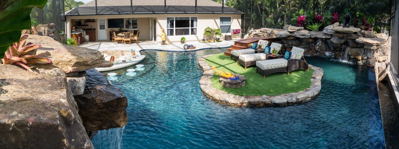 Lucas Lagoons Lazy River Insane Pools Custom pool on Pine Island