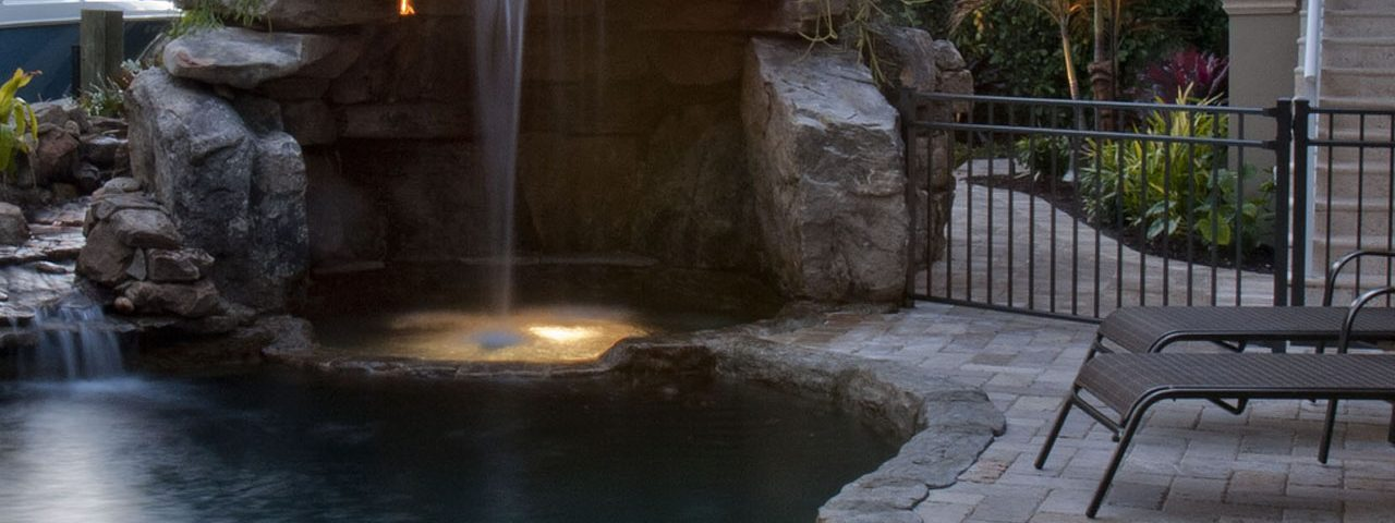 Natural Stone Grotto Waterfall