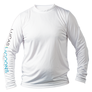 mens performance long sleeve top white front