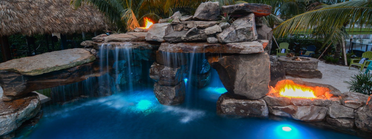Waterfall Pools By Lucas Lagoons Water Fall Pool Florida