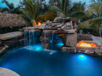 Custom pool resort style wellington florida