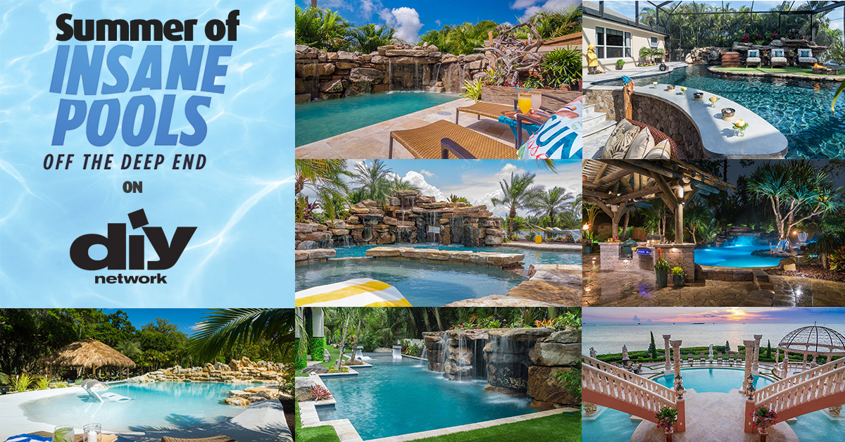 Summer Of Insane Pools On Diy Network Lucas Lagoons